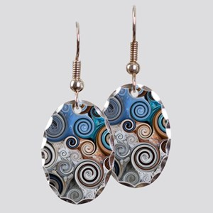 Abstract Rock Swirls Earring