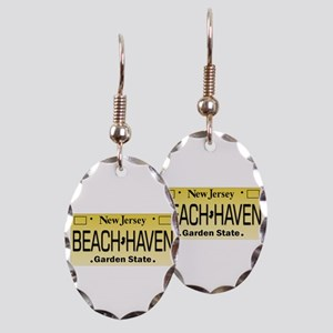Beach Haven NJ Tag Giftware Earring Oval Charm