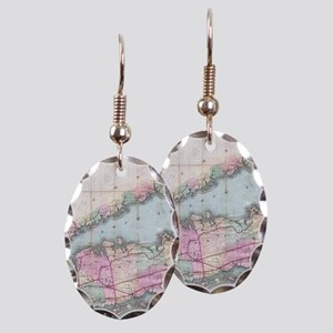 Vintage Map of Long Island (188 Earring Oval Charm