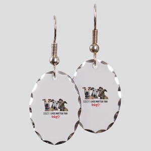 Grey Lives Matter Too ADOPT! Earring Oval Charm