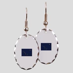 Flag of Alaska Earring Oval Charm