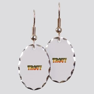 Brook Trout Fly Fishing Catch Earring Oval Charm