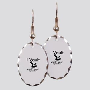 I Vault what's your superpower? Earring Oval Charm