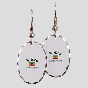 I rep Addis Ababa Earring Oval Charm