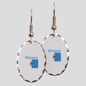 Alicante flag designs Earring Oval Charm