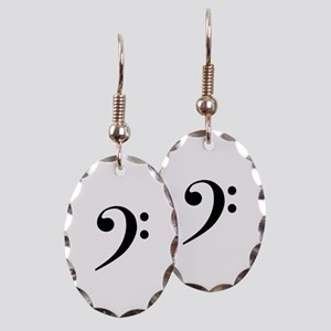 Bass Clef in Gold Earring