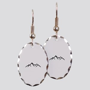 Mountains Earring Oval Charm
