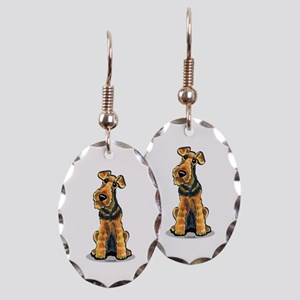 Airedale Welsh Terrier Earring Oval Charm