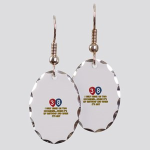 38 year old birthday designs Earring Oval Charm