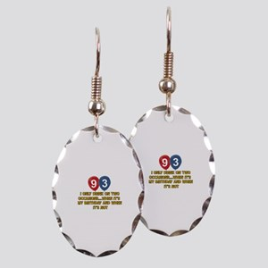 93 year old birthday designs Earring Oval Charm