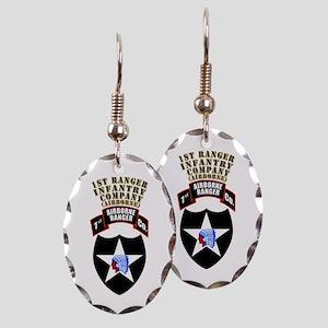 SOF - 1st Ranger Infantry Co - Abn Earring Oval Ch