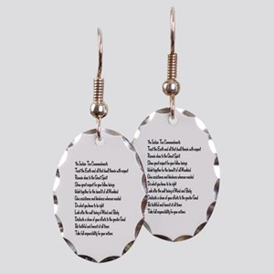 10 Commandments Earring Oval Charm