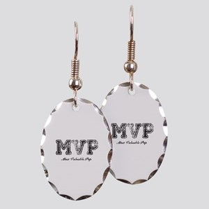 Most Valuable Pop – MVP – Black Earring Oval Charm