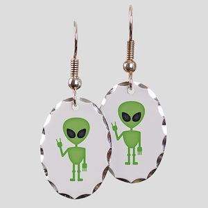 Aliens Rock Earring Oval Charm