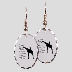 Giraffenapping Earring Oval Charm