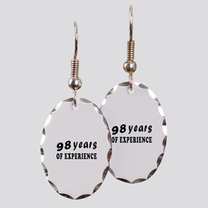 98 years birthday designs Earring Oval Charm
