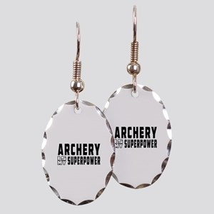 Archery Is My Superpower Earring Oval Charm