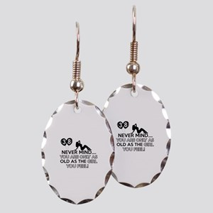 Funny 38 year old designs Earring Oval Charm