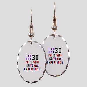 30 Birthday Designs Earring Oval Charm