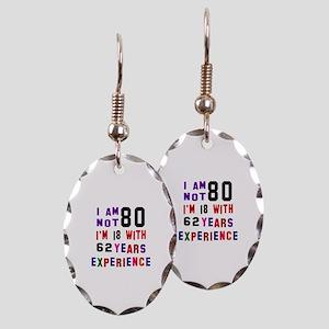 80 Birthday Designs Earring Oval Charm