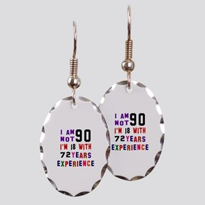 90 Birthday Designs Earring Oval Charm