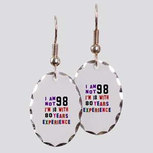 98 Birthday Designs Earring Oval Charm