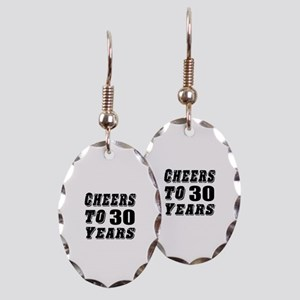 Cheers To 30 Earring Oval Charm