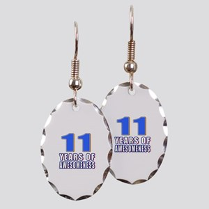 11 Years Of Awesomeness Earring Oval Charm
