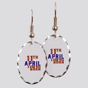 11 April A Star Was Born Earring Oval Charm