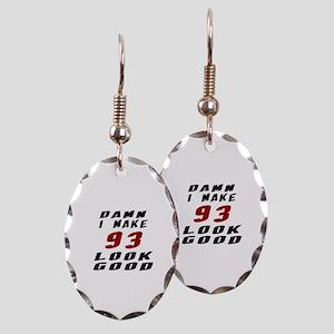 Damn I Make 93 Look Good Earring Oval Charm