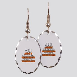 46 Just Remember Birthday Desig Earring Oval Charm
