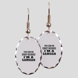 Samoan Designs Earring Oval Charm