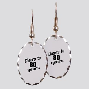 Cheers To 80 Years Earring Oval Charm