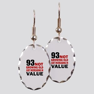 93 Not Growing Old Earring Oval Charm