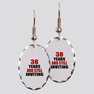 I'm 38 What is your excuse? Earring Oval Charm