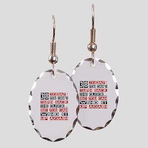 38 Turn Back Birthday Designs Earring Oval Charm