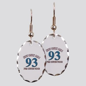 Not Only Am I 93 I'm Cute Too Earring Oval Charm