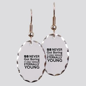 98 Eternally Young Birthday Des Earring Oval Charm