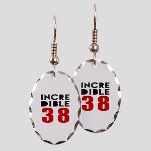 Incredibla 38 Birthday Earring Oval Charm