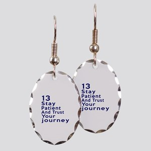 Awesome 13 Birthday Designs Earring Oval Charm