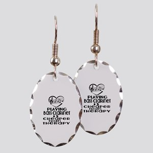Bass Clarinet Is Cheaper Than T Earring Oval Charm
