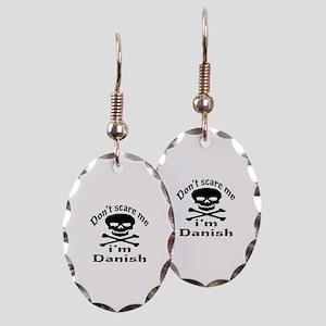 Do Not Scare Me I Am Danish Earring Oval Charm