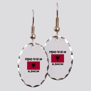 Proud To Be Albanian Earring Oval Charm