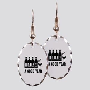 1968 A Good Year, Cheers Earring Oval Charm