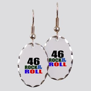 Rock And Roll 46 Birthday Desig Earring Oval Charm