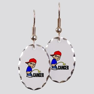 Piss On Cancer -- Cancer Awareness Earring Oval Ch