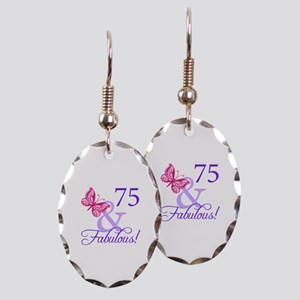 75 And Fabulous Earring Oval Charm