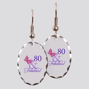 80 And Fabulous Earring Oval Charm