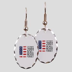 9 11 Remembering Earring Oval Charm