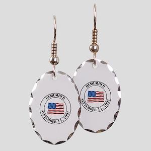 9 11 Earring Oval Charm